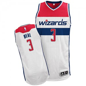 Maillot NBA Authentic Bradley Beal #3 Washington Wizards Home Blanc - Homme