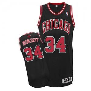Chicago Bulls Mike Dunleavy #34 Alternate Authentic Maillot d'équipe de NBA - Noir pour Homme