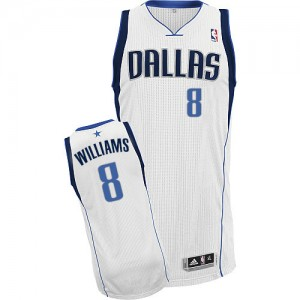 Maillot NBA Authentic Deron Williams #8 Dallas Mavericks Home Blanc - Homme