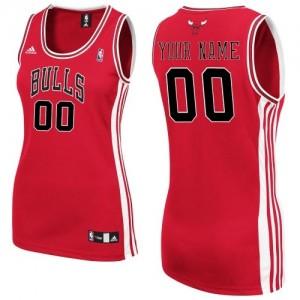 Chicago Bulls Authentic Personnalisé Road Maillot d'équipe de NBA - Rouge pour Femme