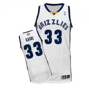 Maillot NBA Authentic Marc Gasol #33 Memphis Grizzlies Home Blanc - Homme