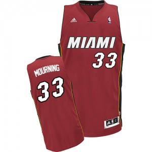 Maillot Swingman Miami Heat NBA Alternate Rouge - #33 Alonzo Mourning - Homme