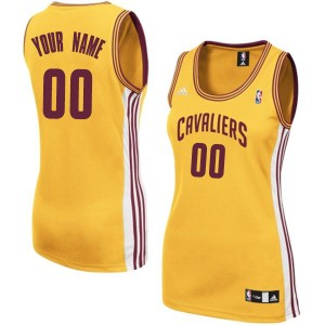 Maillot NBA Or Authentic Personnalisé Cleveland Cavaliers Alternate Femme Adidas