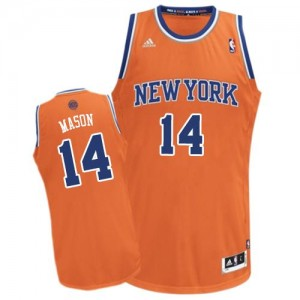 Maillot NBA Swingman Anthony Mason #14 New York Knicks Alternate Orange - Homme