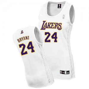 Los Angeles Lakers #24 Adidas Alternate Blanc Authentic Maillot d'équipe de NBA Discount - Kobe Bryant pour Femme