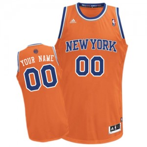 Maillot Adidas Orange Alternate New York Knicks - Swingman Personnalisé - Femme