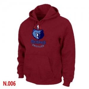 Memphis Grizzlies Rouge Sweat à capuche d'équipe de NBA 100% authentique - pour Homme