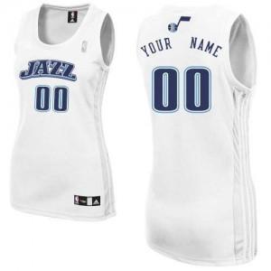 Maillot Utah Jazz NBA Home Blanc - Personnalisé Authentic - Femme