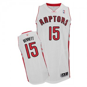 Maillot NBA Blanc Anthony Bennett #15 Toronto Raptors Home Authentic Homme Adidas