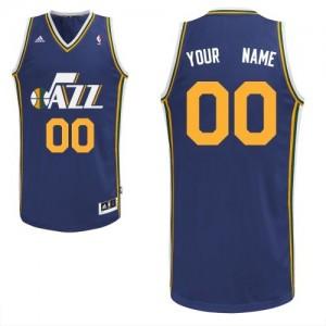 Utah Jazz Personnalisé Adidas Road Bleu marin Maillot d'équipe de NBA Vente - Swingman pour Enfants