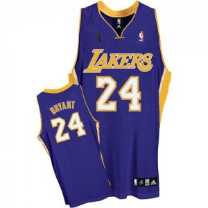 Maillot Adidas Violet Road Champions Patch Swingman Los Angeles Lakers - Kobe Bryant #24 - Enfants