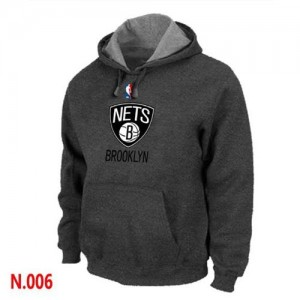Sweat à capuche NBA Brooklyn Nets Gris foncé - Homme