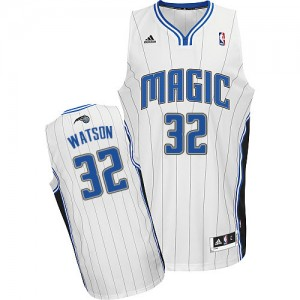 Maillot NBA Orlando Magic #32 C.J. Watson Blanc Adidas Swingman Home - Homme