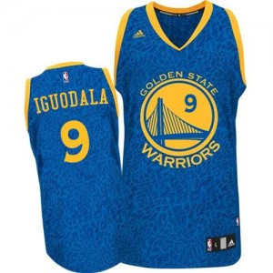 Maillot Authentic Golden State Warriors NBA Crazy Light Bleu - #9 Andre Iguodala - Homme