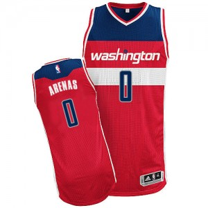 Maillot Authentic Washington Wizards NBA Road Rouge - #0 Gilbert Arenas - Homme