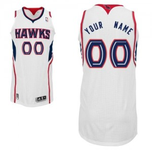 Maillot Adidas Blanc Home Atlanta Hawks - Authentic Personnalisé - Enfants