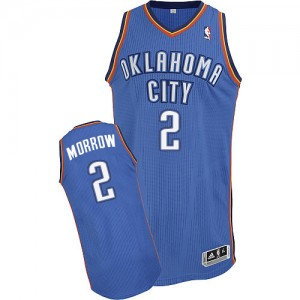 Oklahoma City Thunder Anthony Morrow #2 Road Authentic Maillot d'équipe de NBA - Bleu royal pour Homme