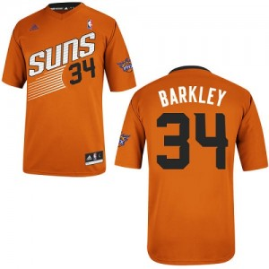 Phoenix Suns Charles Barkley #34 Alternate Swingman Maillot d'équipe de NBA - Orange pour Homme