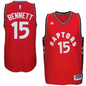 Maillot Adidas Rouge climacool Swingman Toronto Raptors - Anthony Bennett #15 - Homme