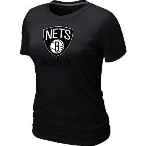 Tee-Shirt Noir Big & Tall Brooklyn Nets - Femme