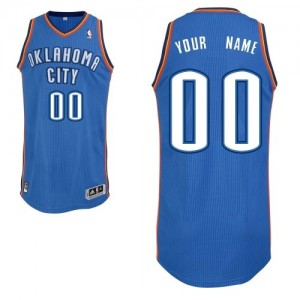 Maillot NBA Oklahoma City Thunder Personnalisé Authentic Bleu royal Adidas Road - Enfants