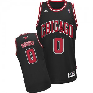 Maillot NBA Noir Aaron Brooks #0 Chicago Bulls Alternate Swingman Homme Adidas