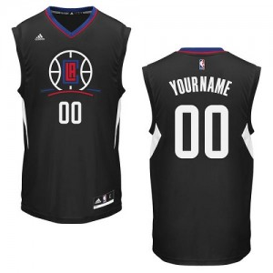 Maillot Adidas Noir Alternate Los Angeles Clippers - Authentic Personnalisé - Homme