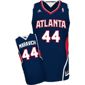 Maillot NBA Bleu marin Pete Maravich #44 Atlanta Hawks Road Swingman Homme Adidas