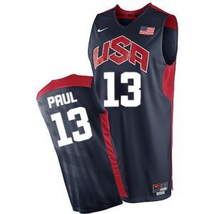 Maillot NBA Authentic Chris Paul #13 Team USA 2012 Olympics Bleu marin - Homme