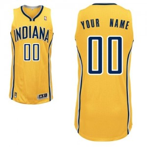 Maillot Adidas Or Alternate Indiana Pacers - Authentic Personnalisé - Homme