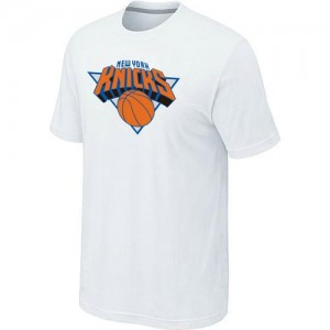 New York Knicks Big & Tall Blanc Tee-Shirt d'équipe de NBA Soldes discount - pour Homme