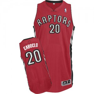 Maillot Adidas Rouge Road Authentic Toronto Raptors - Bruno Caboclo #20 - Homme