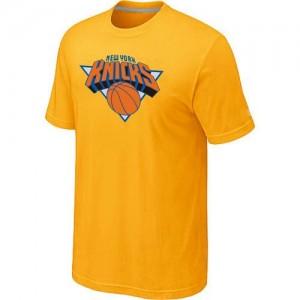 New York Knicks Big & Tall Jaune Tee-Shirt d'équipe de NBA en ligne pas chers - pour Homme