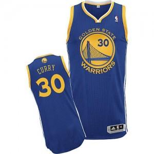 Maillot Authentic Golden State Warriors NBA Road Bleu royal - #30 Stephen Curry - Enfants