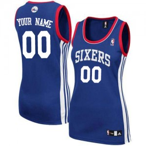 Maillot Philadelphia 76ers NBA Alternate Bleu royal - Personnalisé Authentic - Femme