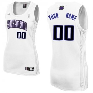 Maillot NBA Sacramento Kings Personnalisé Swingman Blanc Adidas Home - Femme