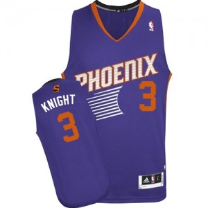 Maillot Adidas Violet Road Authentic Phoenix Suns - Brandon Knight #3 - Homme