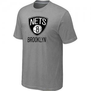 Tee-Shirt Gris Big & Tall Brooklyn Nets - Homme