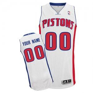 Detroit Pistons Authentic Personnalisé Home Maillot d'équipe de NBA - Blanc pour Enfants