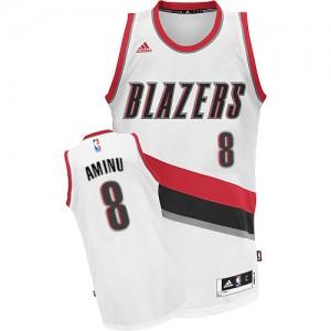 Maillot NBA Blanc Al-Farouq Aminu #8 Portland Trail Blazers Home Swingman Homme Adidas