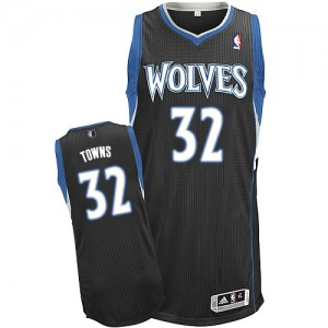 Maillot NBA Authentic Karl-Anthony Towns #32 Minnesota Timberwolves Alternate Noir - Homme