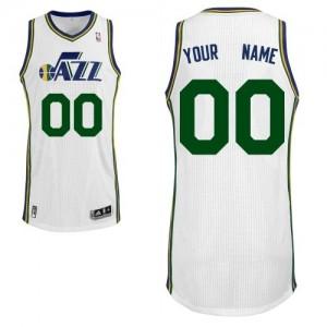 Maillot Utah Jazz NBA Home Blanc - Personnalisé Authentic - Homme