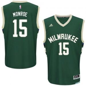 Milwaukee Bucks Greg Monroe #15 Road Swingman Maillot d'équipe de NBA - Vert pour Homme
