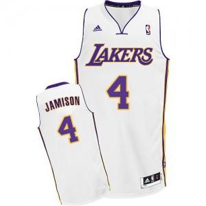 Los Angeles Lakers #4 Adidas Alternate Blanc Swingman Maillot d'équipe de NBA pas cher en ligne - Byron Scott pour Homme