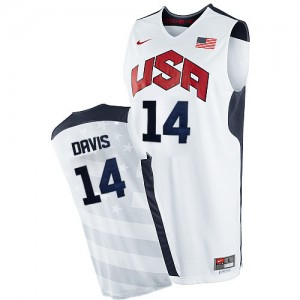 Maillot NBA Authentic Anthony Davis #14 Team USA 2012 Olympics Blanc - Homme