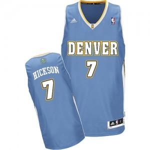 Maillot NBA Denver Nuggets #7 JJ Hickson Bleu clair Adidas Swingman Road - Homme
