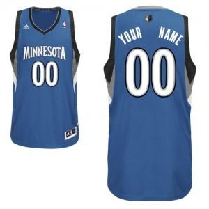 Minnesota Timberwolves Personnalisé Adidas Road Slate Blue Maillot d'équipe de NBA Prix d'usine - Swingman pour Homme