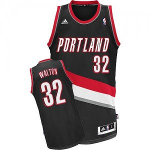 Maillot Adidas Noir Road Swingman Portland Trail Blazers - Bill Walton #32 - Homme