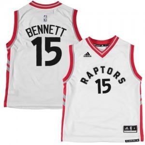 Maillot NBA Blanc Anthony Bennett #15 Toronto Raptors Authentic Homme Adidas