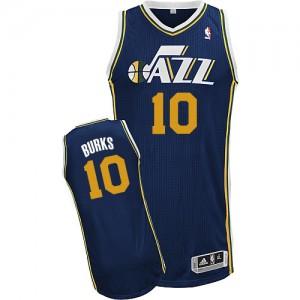Maillot Authentic Utah Jazz NBA Road Bleu marin - #10 Alec Burks - Homme